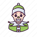 christmas, dwarf, elf, winter, xmas icon