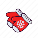 christmas, gloves, hand, holiday, snow, winter icon
