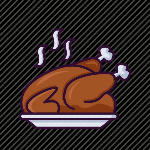 chicken, christmas, food, roast, turkey, winter, xmas icon