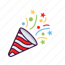 celebration, christmas, new year, party, poppers icon
