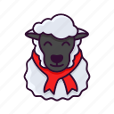 christmas, lamb, sheep, winter, xmas icon