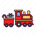 christmas, holiday, toy, train, xmas icon