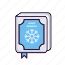 book, christmas, snow, story, winter icon
