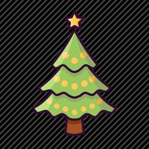 christmas, decoration, ornament, star, tree icon