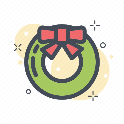 christmas, decoration, filled, line, ornament, tree icon