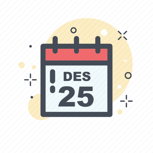 calendar, christmas, collor, filled, holliday, line, red icon