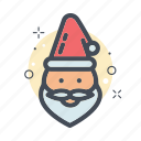 christmas, filled, line, redhat, santa, santaclause icon