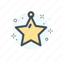 christmas, collor, decoration, filled, line, stars icon