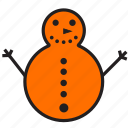 character, christmas, decoration, holiday, snowflake, snowman, winter icon