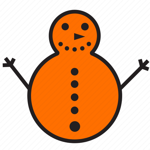 christmas, decoration, snowman icon