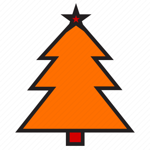 christmas, spruce, tree icon