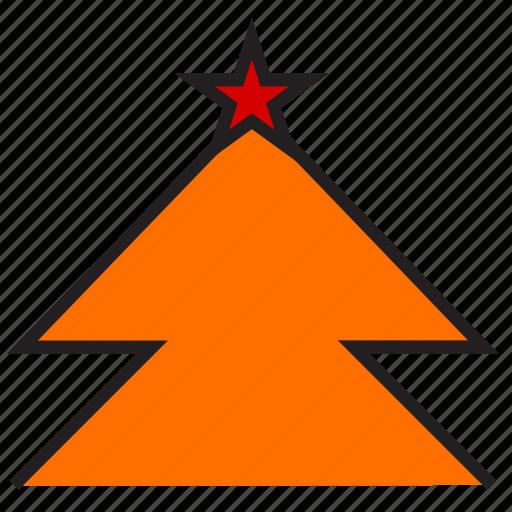 christmas, spruce, tree icon
