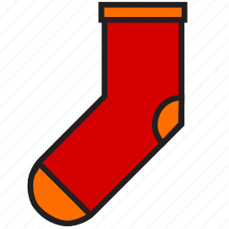 christmas, clothes, decoration, holiday, sock, winter, xmas icon