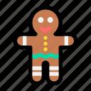 christmas, cookie, dessert, gingerbread, gingerbread man, sweet, x-mas