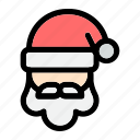 beard, christmas, santa claus, sinterklaas, snow, winter, x-mas icon