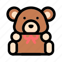 bear, christmas, doll, gift, present, teddy bear, x-mas