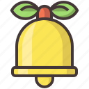 bell, christmas, decoration, snow, xmas icon
