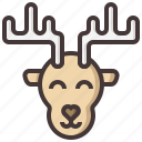 animal, christmas, decoration, deer, xmas, zoo icon