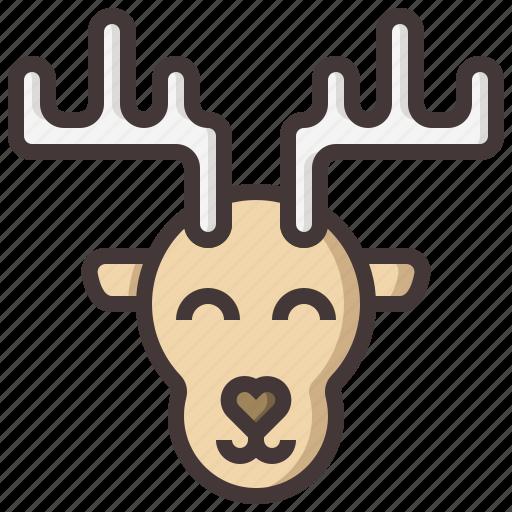 animal, christmas, decoration, deer, xmas, zoo icon