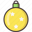 ball, christmas, decoration, gift, star, xmas icon