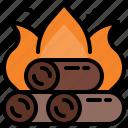 bonfire, burn, fire, flame