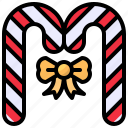 candy, cane, christmas, sweet icon