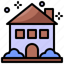 building, christmas, home, house icon