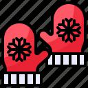 christmas, mittens, winter, xmas