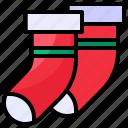 christmas, sock, winter, xmas icon