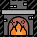 christmas, fire, fireplace, xmas icon