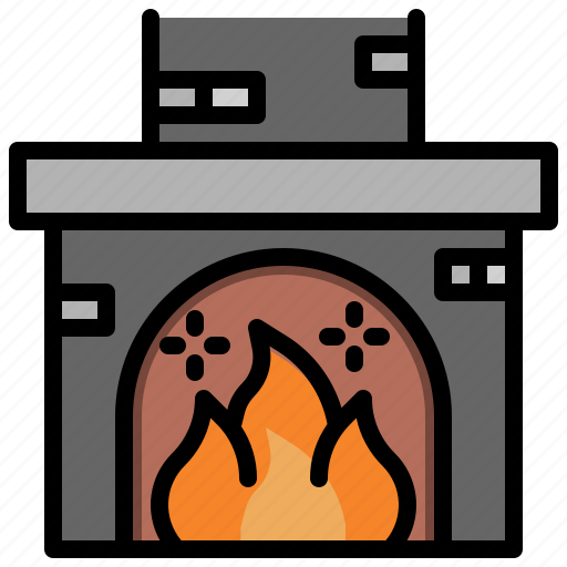 Christmas, fire, fireplace, xmas icon - Download on Iconfinder