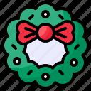 christmas, winter, wreath, xmas icon