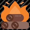 bonfire, burn, fire, fireplace icon