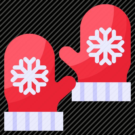 christmas, mittens, winter, xmas icon