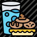 cookies, milk, snack, sugar, treat