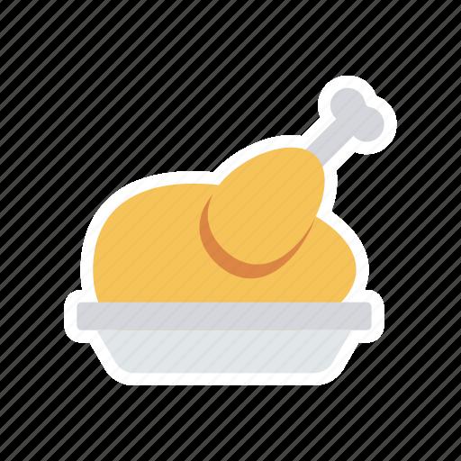 chicken, leg, meat, piece icon