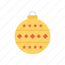 ball, celebration, christmas, decoration icon