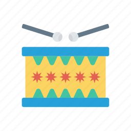 drum, instrument, music, party icon