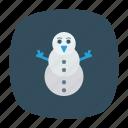 christmas, holiday, man, snow icon