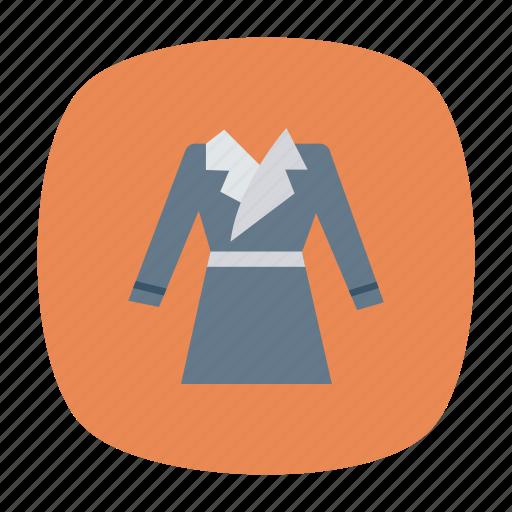 cloth, coat, dress, jacket icon
