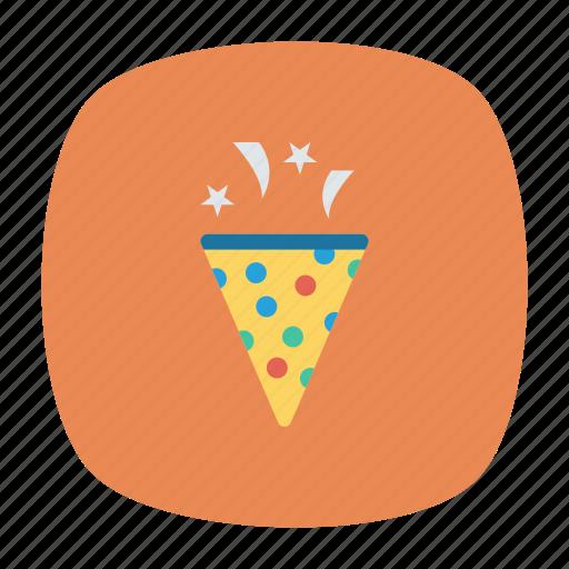 celebrate, confetti, party, popper icon