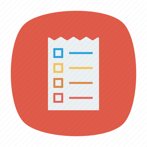 checklist, document, page, paper icon