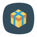 bonus, box, gift, present icon