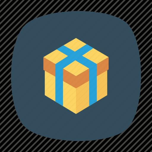 bonus, box, gift, present icon