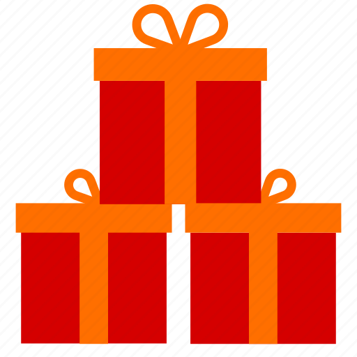 boxes, christmas, gifts, new year icon