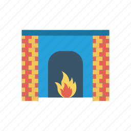 firehouse, flame, hot, light icon