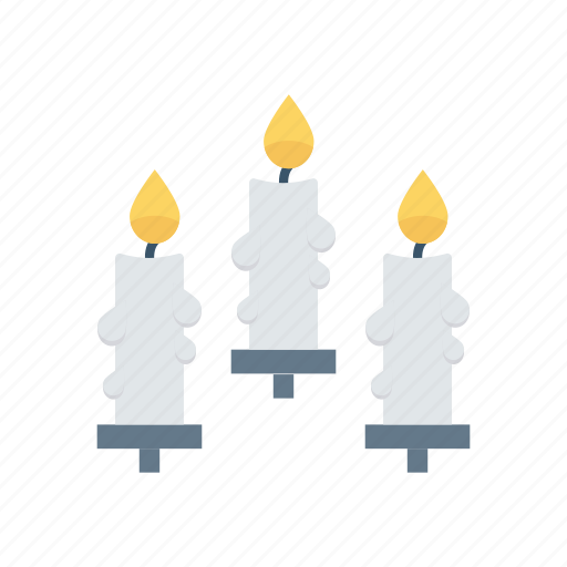 candle, flame, memorial, torch icon