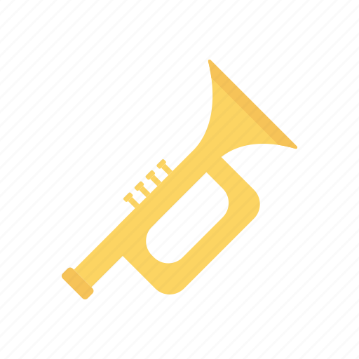 instrument, music, party, trumpet icon