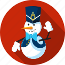 cap, gloves, nutcracker, season, snow, snowman, winter icon