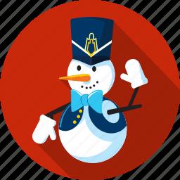 cap, gloves, nutcracker, season, snow, snowman, winter icon